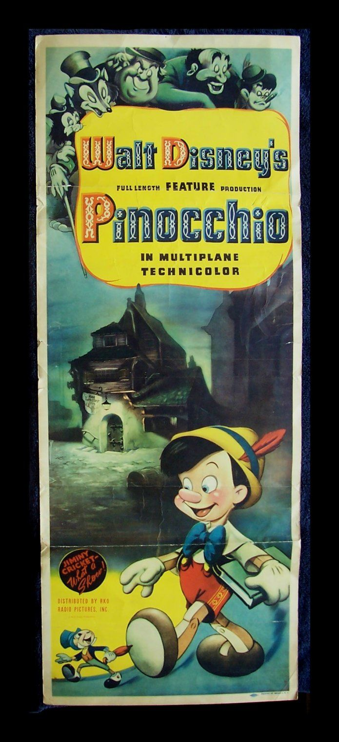 Pinocchio - vintage poster Cinemasterpieces
