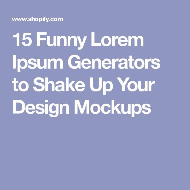 15 Funny Lorem Ipsum Generators to Shake Up Your Design Mockups