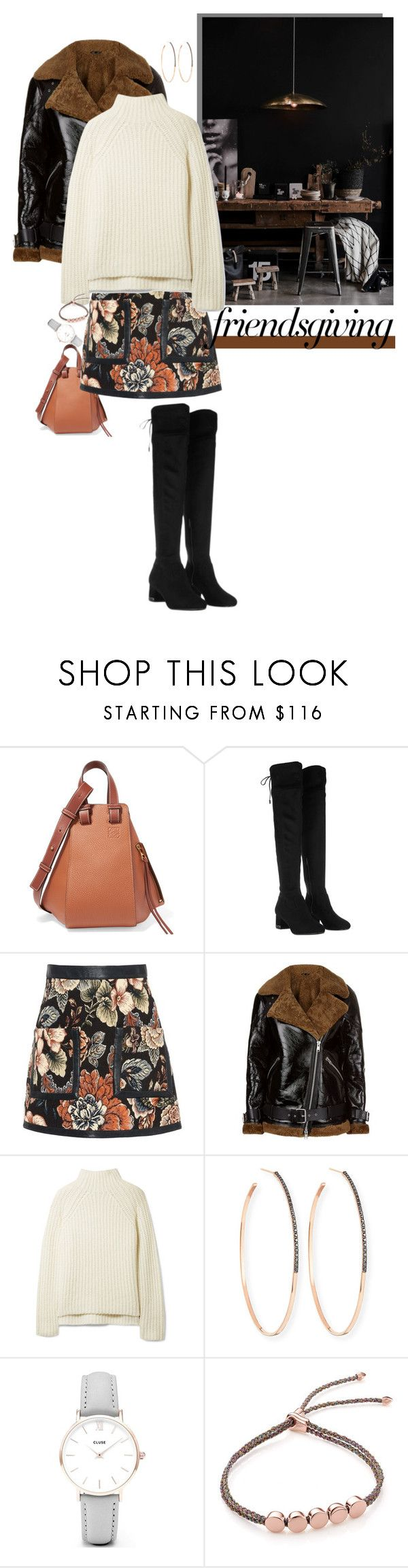 """""""Friendsgiving: Norwegian Wood"""" by shift ❤ liked on Polyvore featuring Loewe, Michael Kors, STELLA McCARTNEY, AllSaints, Theory, Lana, CLUSE and Monica Vinader"""