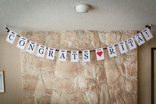Diy Wedding Word Banners: Best 25+ Bridal Shower Banner Diy Ideas On Pinterest