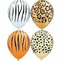 Party Time Celebrations  - Safari Assortment Balloons Pack 25, $22.95 (http://www.partytimecelebrations.com.au/safari-assortment-balloons-pack-25/)