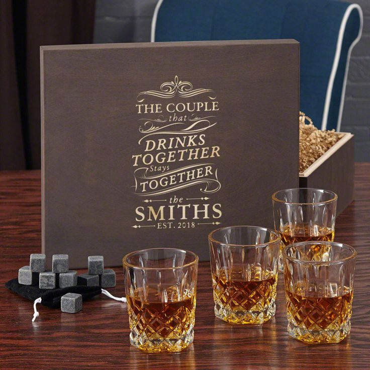 Gifts With Photos On Them Part - 15: Drink Together Stay Together Rocks Glass And Whiskey Stone Gift Box