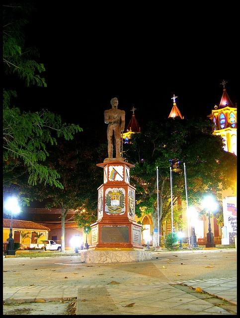 Plaza Bolívar, Seboruco, Municipio Seboruco, Estado Táchira, Venezuela.