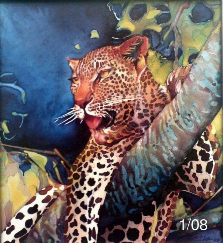 Descanso do leopardo by Joaquim Canotilho painter
