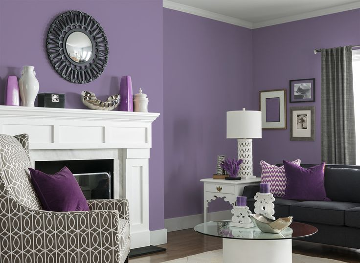 Perfect For A Living Room Lounging And Putting Your Feet Up Get This Look With CIL Paints Sugared Plum