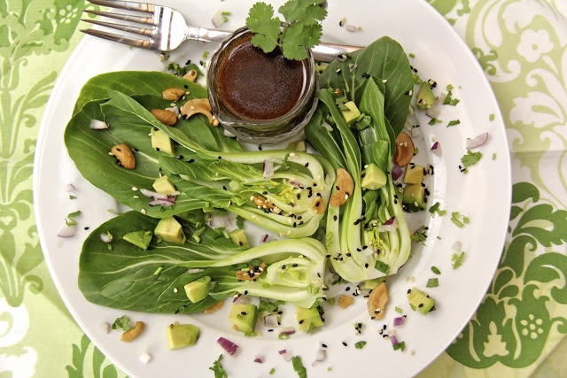 Baby Bok Choy & Avocado Salad w/ Sweet Soy Vinaigrette and Butter ...