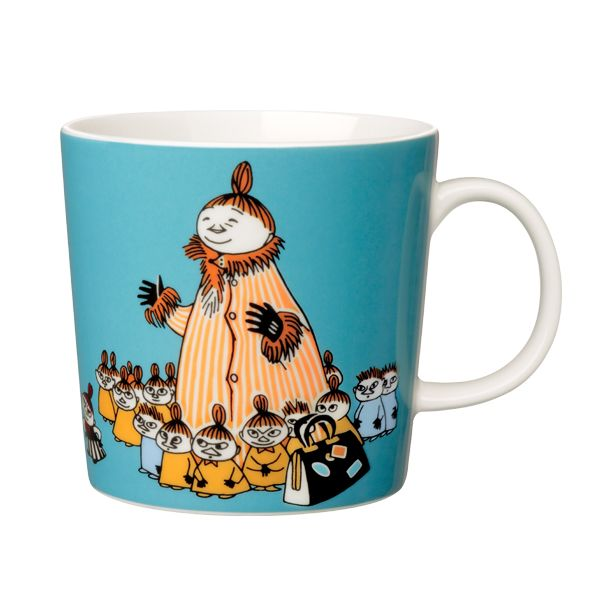 Moomin mug Mymble's mother, turquoise (18,20€) Arabia Tove Slotte