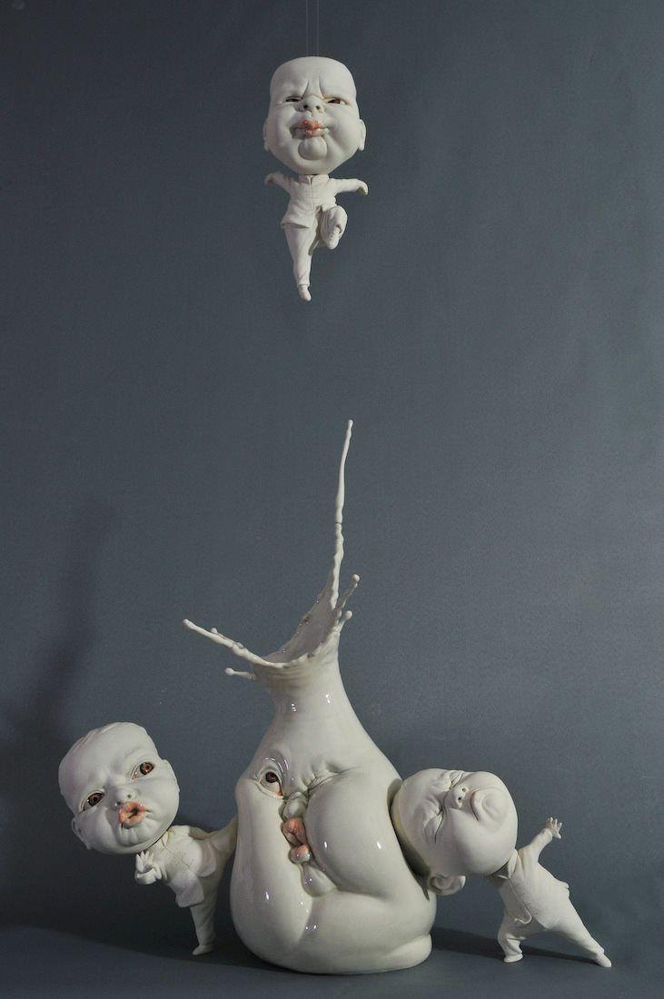 """""""Open Mind"""" - Porcelain sculpture by Johnson Tsang.http://johnsontsang.wordpress.com beinArt Collective:http://beinart.org"""