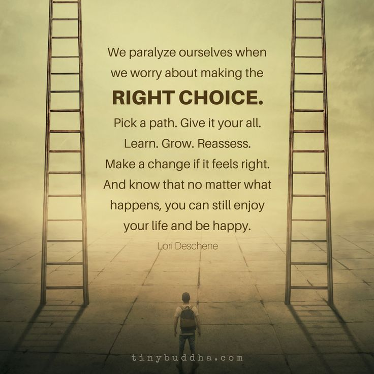 how to know if your making the right decision
