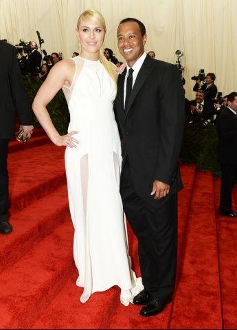Lindsey Vonn and Tiger Woods  - Met Gala 2013