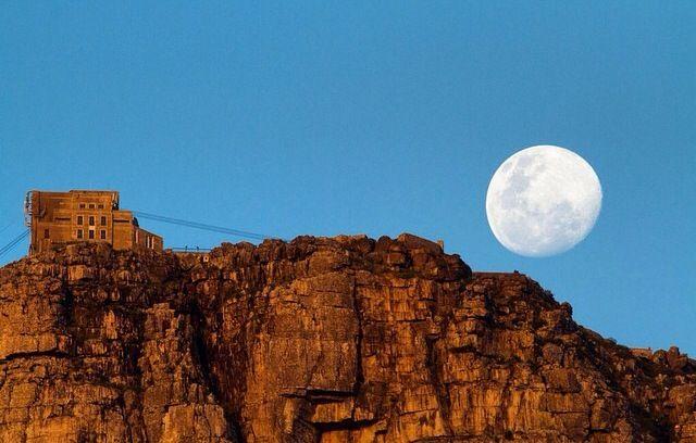 Full moon over Table Mountain
