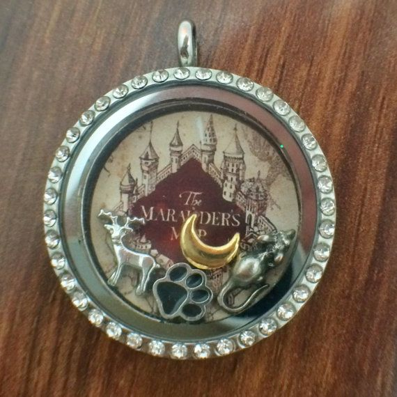 Harry Potter Marauder's Map Themed Floating by PopCultureLockets, $2.00