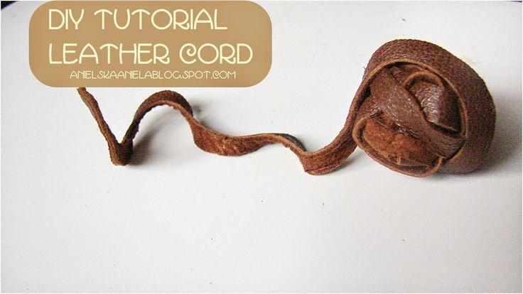 DIY how to make a leather cord.. jak zrobić skórzany rzemień diy