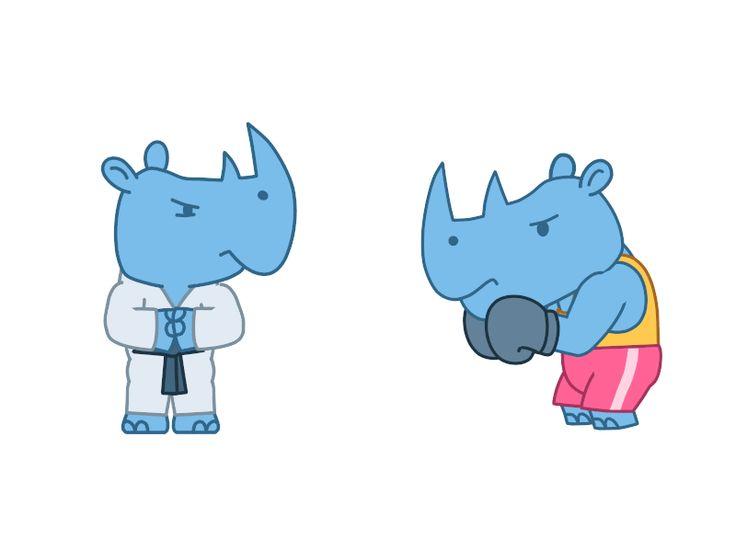 Rhino Animation for IMO Messenger by Denis Sazhin #Design Popular #Dribbble #shots
