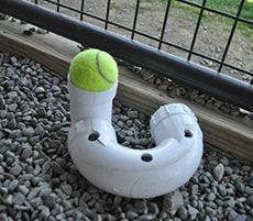 """Easy enrichment idea: use pvc pipe to make """"linkable"""" toys for shelter dogs! More ideas on the AFF website!"""