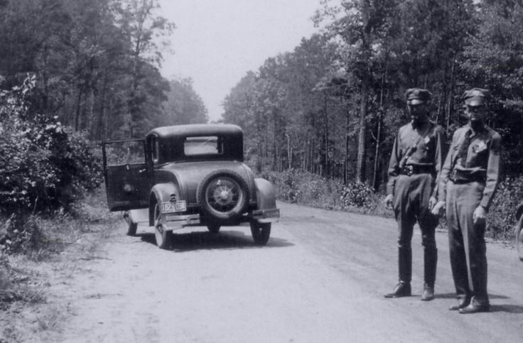 "Photo: snapshot by unknown photographer of spot where Bonnie & Clyde were ambushed, 23 May 1934. Credit: FBI; Wikimedia Commons. Credit: Library of Congress, Prints and Photographs Division. Read more on the GenealogyBank blog: ""Violent End to Bonnie and Clyde's Life of Crime"" https://blog.genealogybank.com/violent-end-to-bonnie-and-clydes-life-of-crime.html"