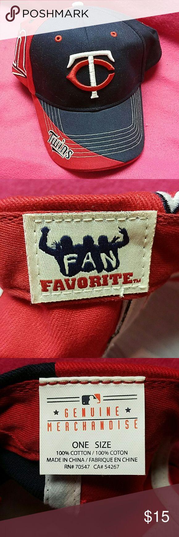 Minn TWINS baseball cap, one size, nwot Minn TWINS fan favorite baseball cap, one size, nwot. The 2017 season is starting...a must have. mlb Accessories Hats