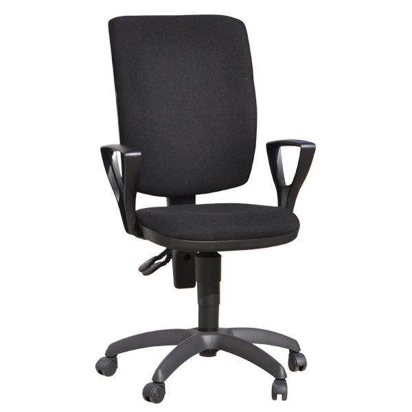 Περιγραφή Προϊόντος Εργασιακό κάθισμα MILANO με μεσαία πλάτη και μπράτσα σχήματος ¨Τ¨, παραγωγής μας. Διαθέτει μηχανισμό ανάκλισης βαρέως τύπου με 2 λεβιέδ...
