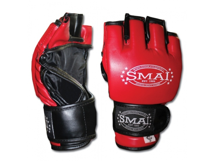 """SMAI MMA Trainer  SMAI TRAINER MMA Grappling Glove.  SMAI's MMA gloves are designed with the fighter in mind. Constructed from the best Synthetic leather these gloves are designed to cater for individual training. A 1"""" layer of gel foam protects the knuckles, fingers and top of the hand making it ideal for training, bag and pad work.   For more info visit: http://www.gymandfitness.com.au/smai-mma-trainer.html"""