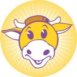 Mooby Logo Round Sticker