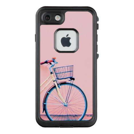 Blue Pink Bike Basket Bicycle Wheels LifeProof FRĒ iPhone 7 Case #pastel #iphone #protective #cases
