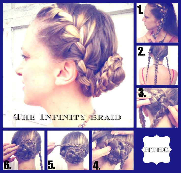 Infinity braid instructions. Infinity braid with flowers?