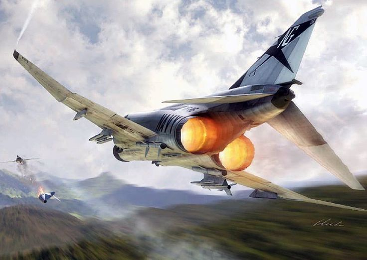 """""""F-4J Phantom II""""   May 10, 1972 was the US Navy's most successful day against the Vietnamese People's Air Force (VPAF). Amongst the Naval Aviators to enjoy success on this date were Lts Matt Connelly and Tom Blonski in F-4J BuNo 155769 of top-scoring squadron VF-96 from USS Constellation (CVA-64)"""
