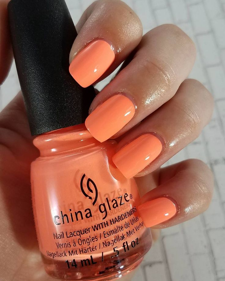 "114 Likes, 8 Comments - CorkManicures (@corkmanicures) on Instagram: ""China Glaze - Flip Flop Fantasy  2-3 coats depending on application  Obviously the orange freaked…"""