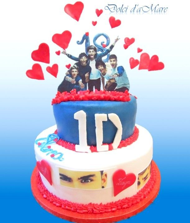 18th birthday for an amasing Directioner...  1D cake designer https://www.facebook.com/dolcidamare