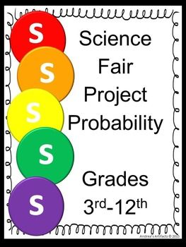 Here is a great science fair project on probability that will be easy and enjoyable! All information is EDITABLE to make it super simple!