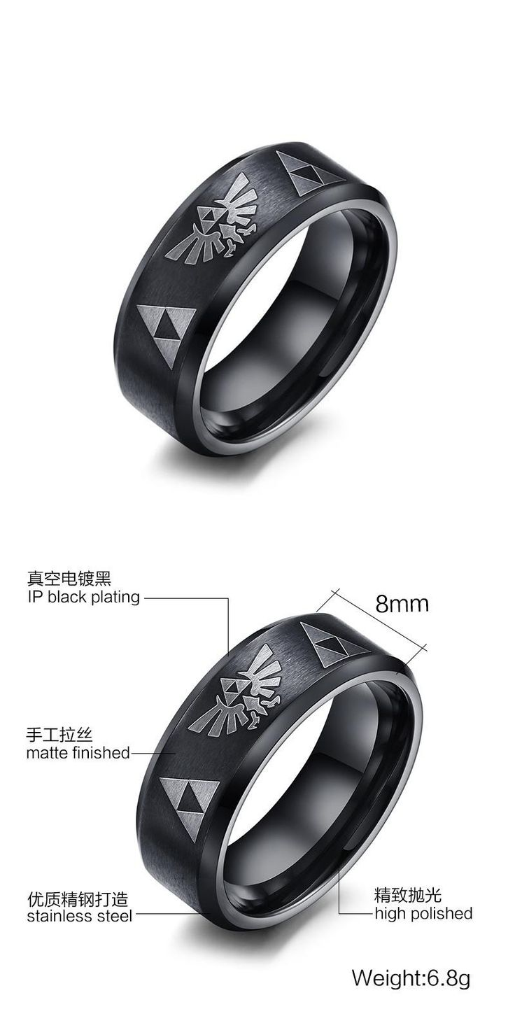 [visit To Buy] Sizzz 2016 New Fashion Men Punk Jewelry 8mm Wide Stainless  Steel