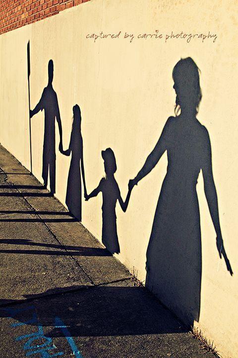 Rodinné focení | stínohra | inspirace