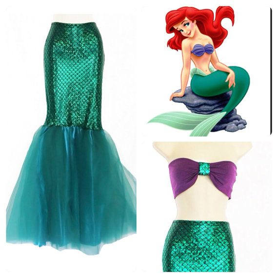 LITTLE MERMAID Full Mermaid Tail / Birthday by MTBGBOUTIQUE, $79.99