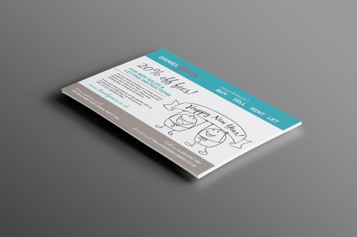 Promotional flyers designed for Daniel James Estate Agents.