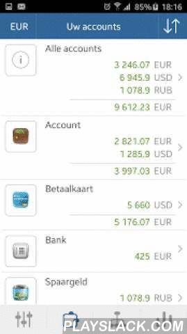 My Wallets - Free  Android App - playslack.com ,  De My Wallet app toont je alles wat je wilt zien om te begrijpen waar je geweest bent om uw geld en waar je moet sparen om uw financiële welzijn te behouden. Om te beginnen, je accounts aanmaken in de app voor bankrekeningen, creditcards en contant geld, en voer transacties voor uw inkomen en aankopen. Categorieën en subcategorieën helpen uw uitgaven te zien in details en ontdek probleemgebieden. De applicatie biedt verschillende rapporten om…