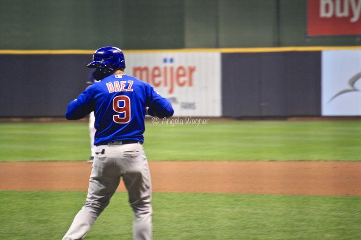 Javier Baez, #El Mago, Chicago Cubs Win 5-3! @ Miller Park, 9/21/17.