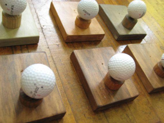 Need a fun idea for anyone who loves golf? Craft a Single Golf Ball Coat Rack!