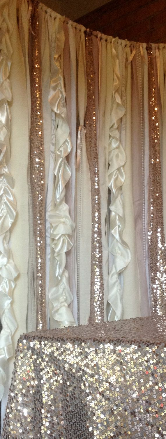 Sequin Wedding Garland Pink Blush Ivory White by ohMYcharley