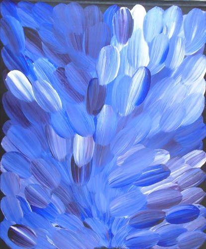 Gloria Petyarre  Bush Medicine  2009  Synthetic polymer paint on Belgian linen  91 x 76 cm  $2,200 AUD