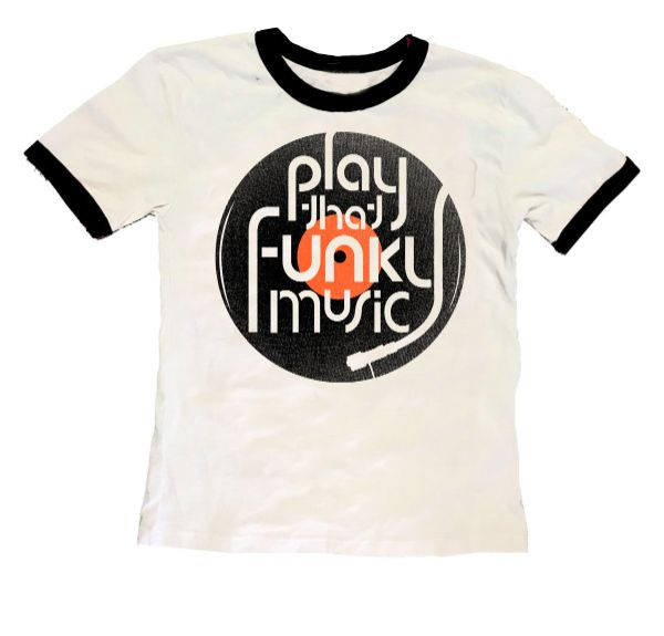 Rowdy Sprout Kids Play That Funky Music Tee in White