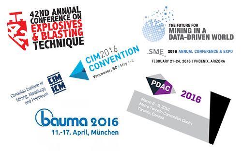 On the 2016 trade show trail! #tradeshows #2016 #mining #CIM #bauma #technology #blastoptimization