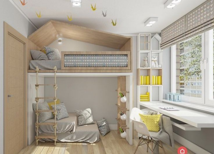 Photo of Chic loft bed for a shared children's room. – #bed #a # for #germany …
