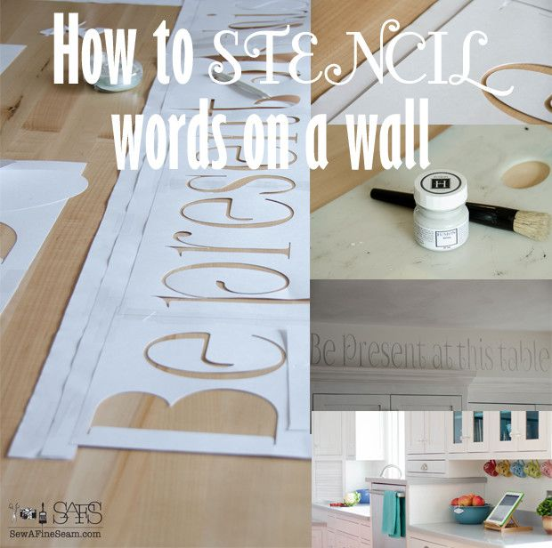 How To Stencil Words On A Wall Words Word Walls And