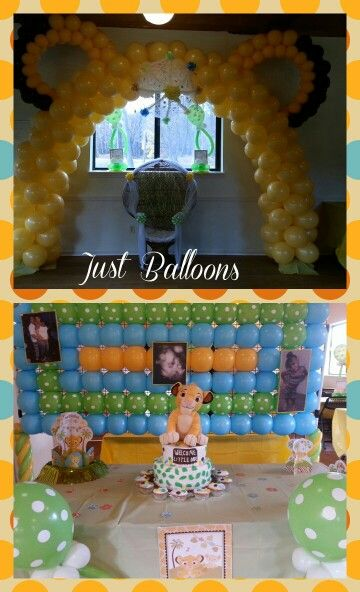 Lion King Baby Shower Just Balloons Pinterest Babies