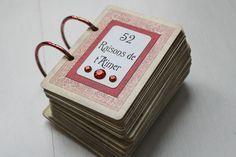 52 raisons de t'aimer (tuto) - Scrap & Cie - Scrap, home déco et DIY by Psine