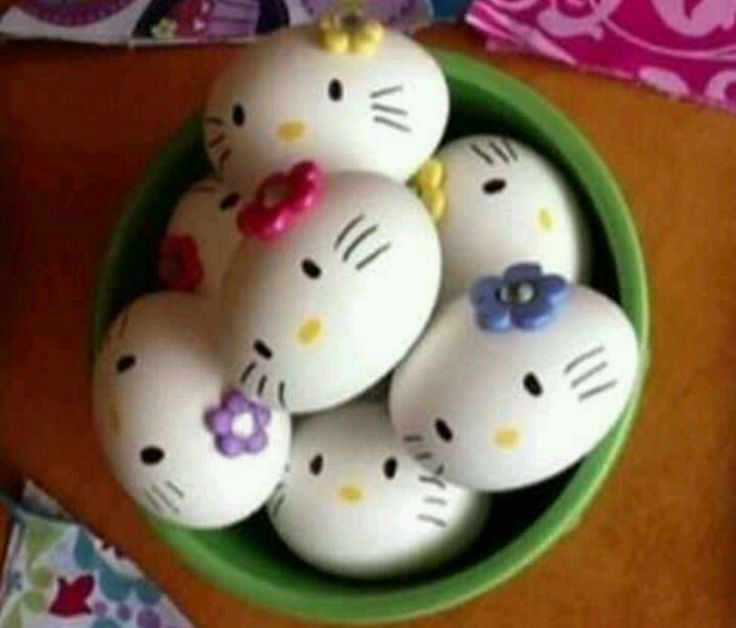 Hello Kitty Easter eggs   Hello Kitty crafts   fun crafts for kids