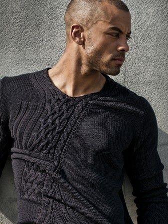 Men's black knit sweater