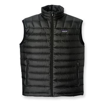 Patagonia down sweater vest. It was a little chilly this morning.