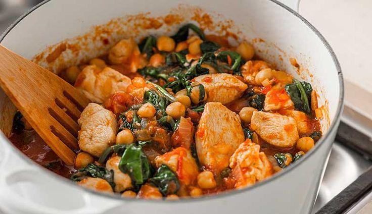 Kyllinggryte med kikerter, tomat og spinat4