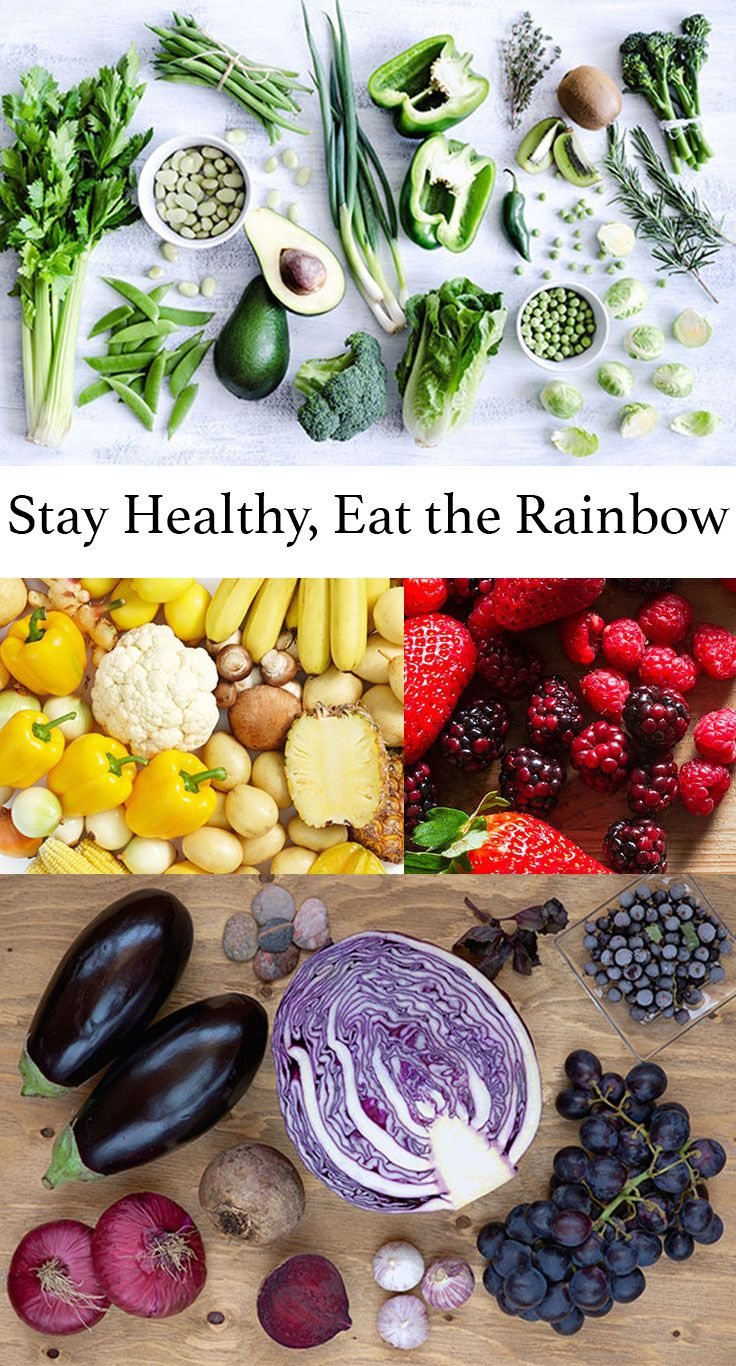 Beautiful Eat In Kitchens: Stay Healthy By Eating The Colors Of The Rainbow